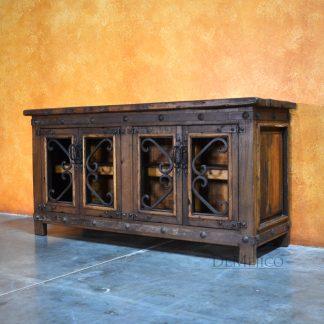 Old Wood Alamo TV Stand, Old Wood TV Stand - Demejico