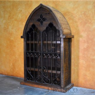 Armario Gotica, Rustic Armoire, Iron Door Cabinet, Wine Cabinet