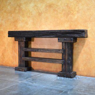 Consola Tronco, Rustic Wood Console Table - Demejico