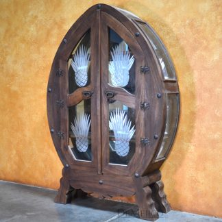 Armario Agave, Mexican Armoire, Tequila Cabinet, Wine Cabinet -Demejico
