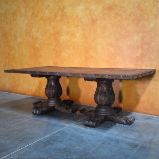 Brianna Table, Hand Carved Dining Table - Demejico