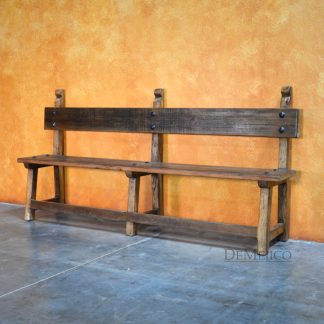 Banca Baja, Old Wood Bench, Colonial Style Bench - Demejico