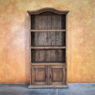 Librero Mediabos, Spanish Bookcase, Arched Bookcase, Pine Bookcase