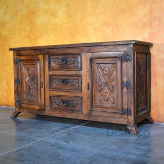 Small Luis Quince Buffet, Spanish Colonial Buffet - Demejico