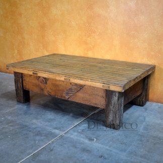 Vieja Mesa de Centro, Small Reclaimed Door Coffee Table - Demejico