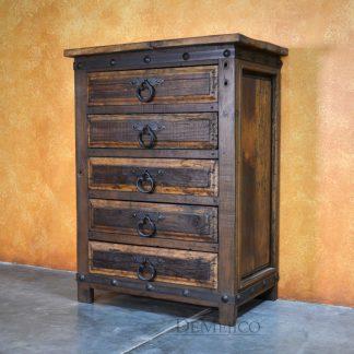 Old Wood Tall Alamo Dresser, Tall Dresser, Reclaimed Wood Dresser