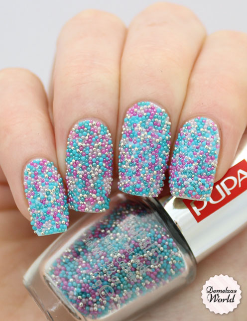 Nail Art Mania Bubbles Collection Pupa Icy Mint Multicolor