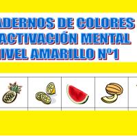 Serie 1 amarillo: Cuaderno en pdf de ejercicios de estimulación cognitiva. Sin deterioro