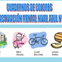 Serie 1 azul: Cuaderno en pdf de ejercicios de estimulación cognitiva. Deterioro leve-moderado.