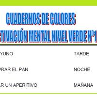 Serie 1 verde: Cuaderno en pdf de ejercicios de estimulación cognitiva. Deterioro moderado.