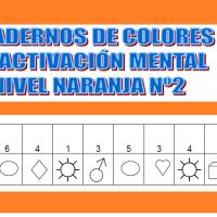 Serie 2 naranja: Cuaderno en pdf de ejercicios de estimulación cognitiva. Deterioro muy leve.