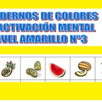 Serie 3 amarillo: Cuaderno en pdf de ejercicios de estimulación cognitiva. Sin deterioro