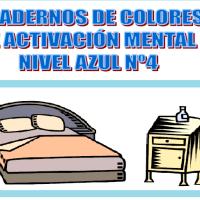 Serie 4 azul: Cuaderno en pdf de ejercicios de estimulación cognitiva. Deterioro leve-moderado.