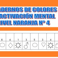 Serie 4 naranja: Cuaderno de ejercicios de estimulación cognitiva. Deterioro muy leve.