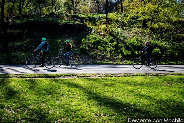 En bicicleta por Central Park, Nueva York.