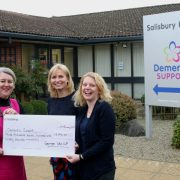 George Ide, Chichester presenting generous donation of £3,790 to Dementia Support
