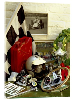 Racing Themed Artefacts Wall Art