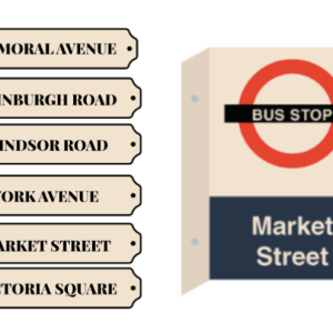 Signage Streets Bus Stop