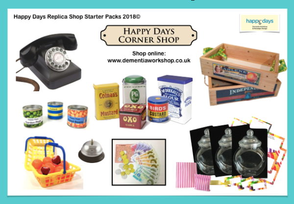 Replica Shop Pack including retro telephone McDougall's Typhoo canisters, sweet jars, baskets