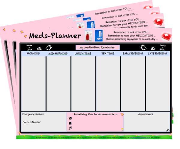 Medication Planner - Dementia Workshop