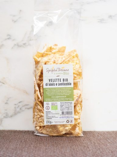 Demetra Bottega Nuvole Puffed Corn and Lentil Chips from Spighe Toscane