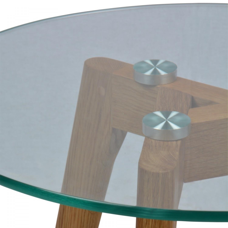 Set De 2 Tables Basses En Verre Rondes Scandinave VNSTAD