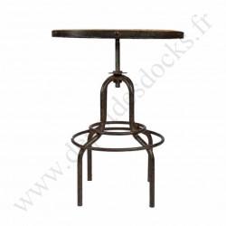 mange debout vintage industriel metal vieux bois reglable o65 cm