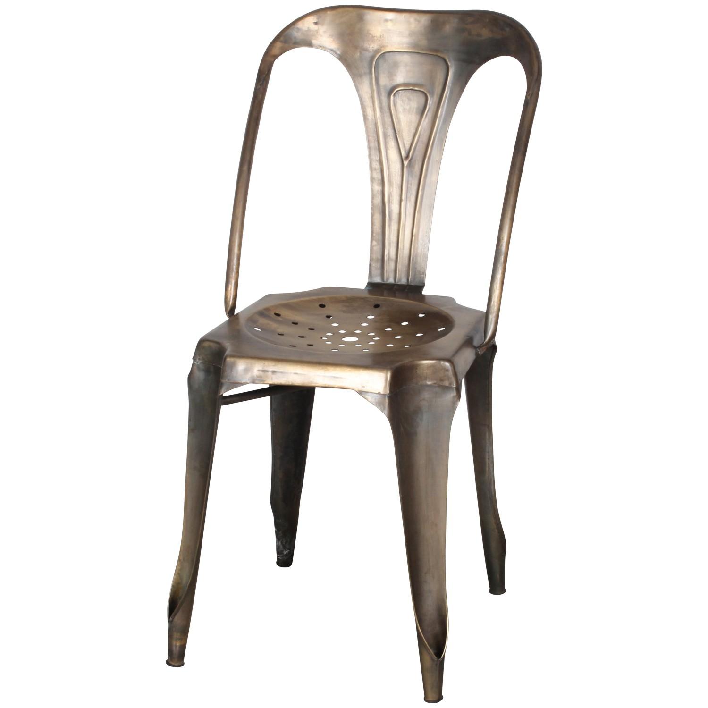 chaise en metal couleur laiton style vintage collection loftoten