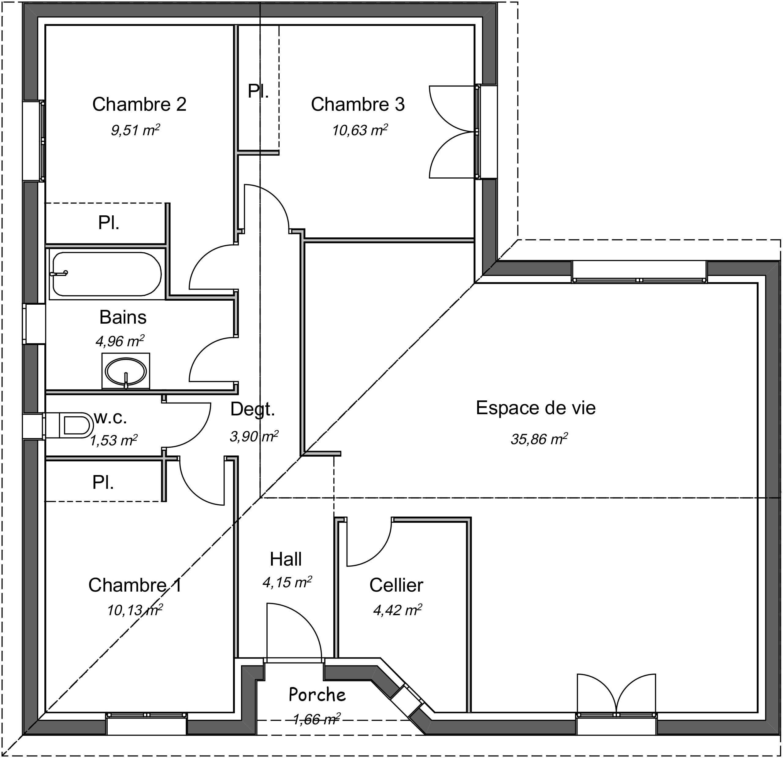 Maison Contemporaine Plain Pied Meleze Avec Plans Demeures D Aquitaine Constructeur Maison Individuelle Nouvelle Aquitaine