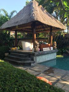 Poolside cabana at Gajah Biru