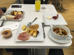 Lufthansa Senator Lounge food