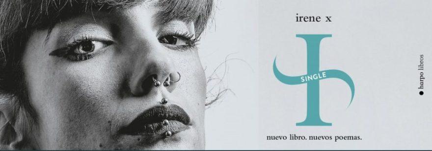 Harpo Libros- Fotografía de la poeta Irene X para su nuevo libro Single.
