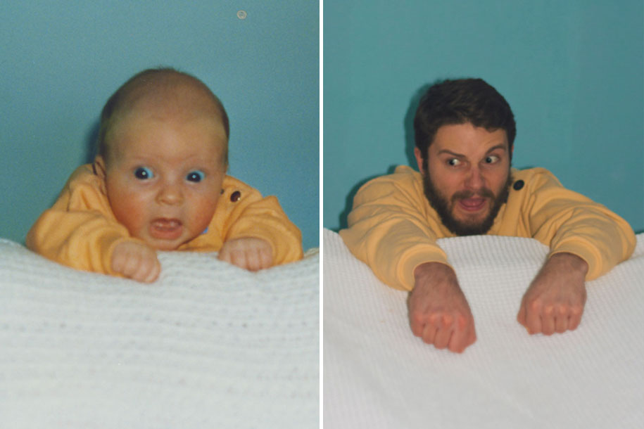 Two Brothers Re Create Childhood Photos As A Priceless