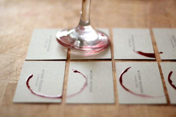 30 Of The Most Creative Business Card Designs Sommeli    re Wineglass Business Card