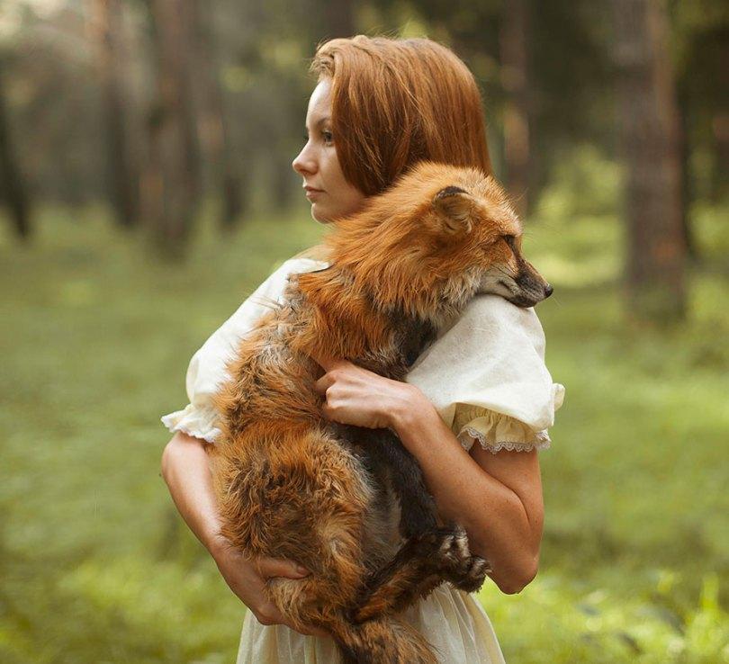 surreal animal human portraits katerina plotnikova 16 - Fotografias místicas: Pose de animais reais com seres humanos