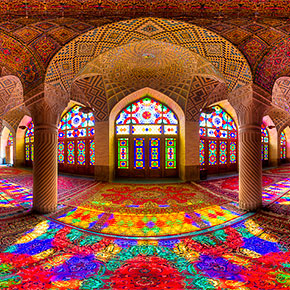 Stunning Mosque In Iran Becomes A Magnificent Kaleidoscope