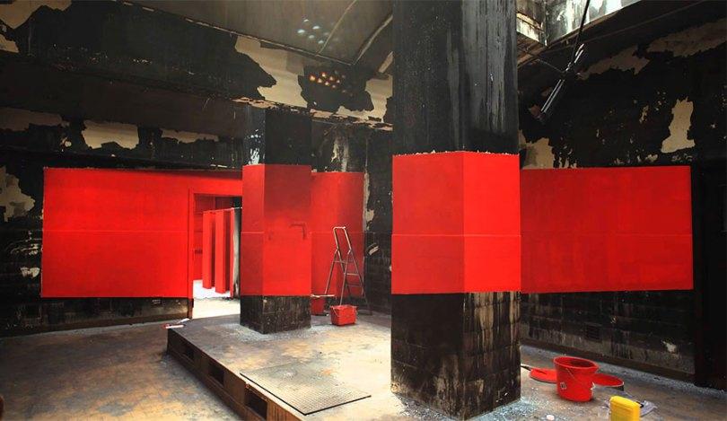 forced perspective art bending space georges rousse 16 - Foto em perspectiva: Arte geométrica 3D por Georges Rousse é visível apenas de um ângulo