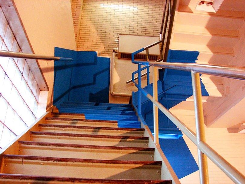 forced perspective art bending space georges rousse 7 - Foto em perspectiva: Arte geométrica 3D por Georges Rousse é visível apenas de um ângulo