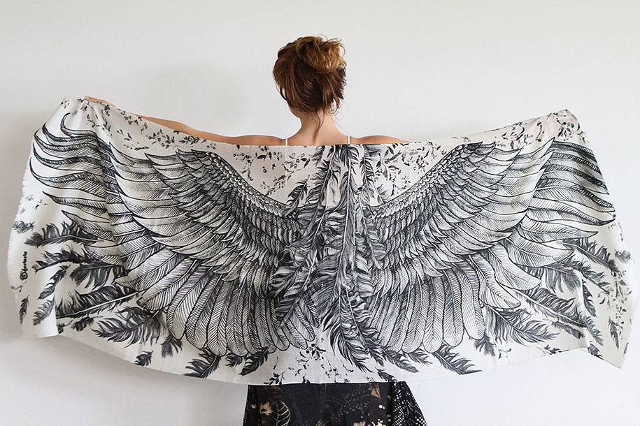 handmade-birds-wings-feather-scarves-shovava-5