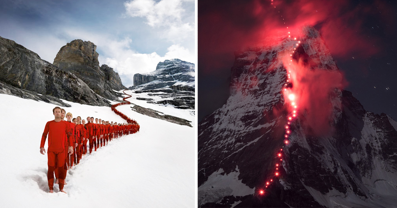 Hundreds Of Climbers Scaled The Swiss Alps For Epic Photoshoot