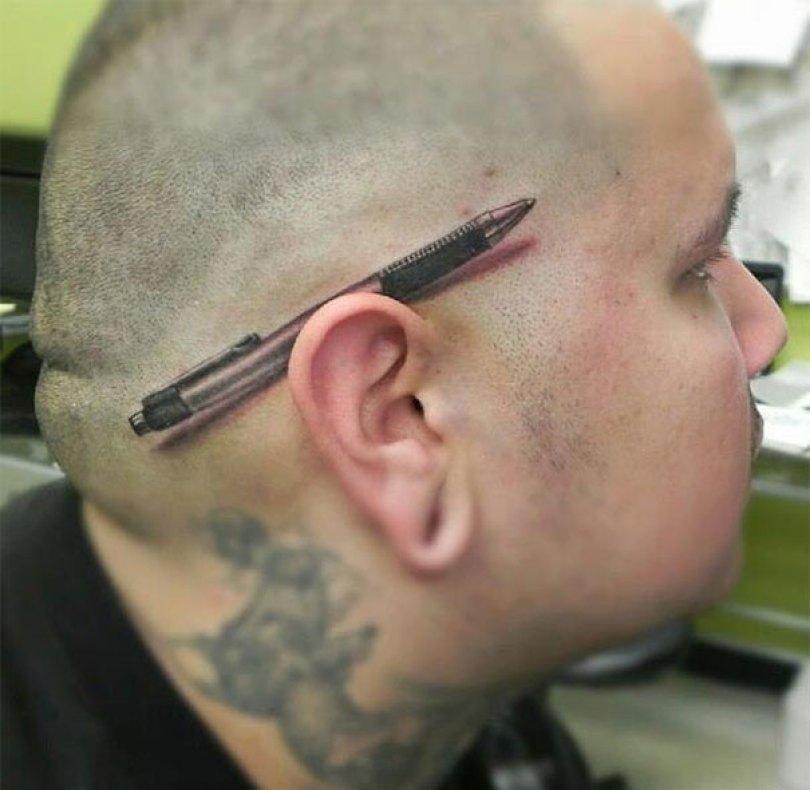 amazing 3d tattoo art 9 - 56  Tatuagens em 3D que irão bagunçar sua mente