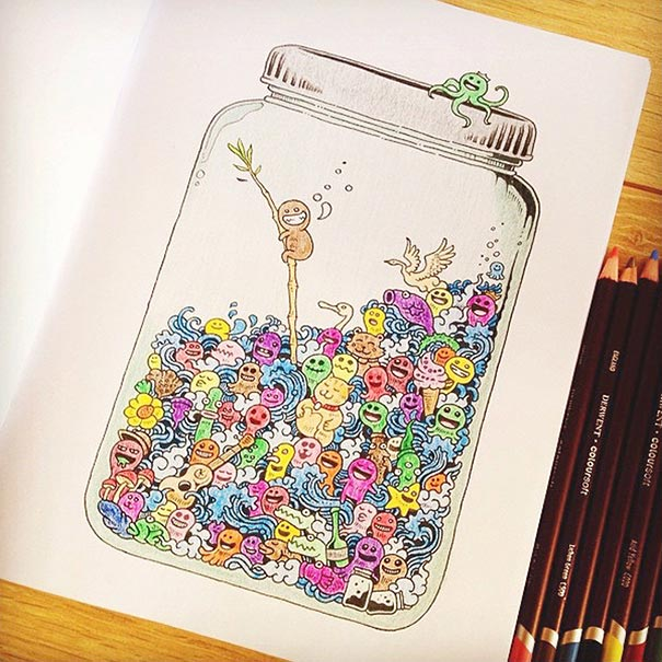 Incredibly Detailed Coloring Books For Adults Called