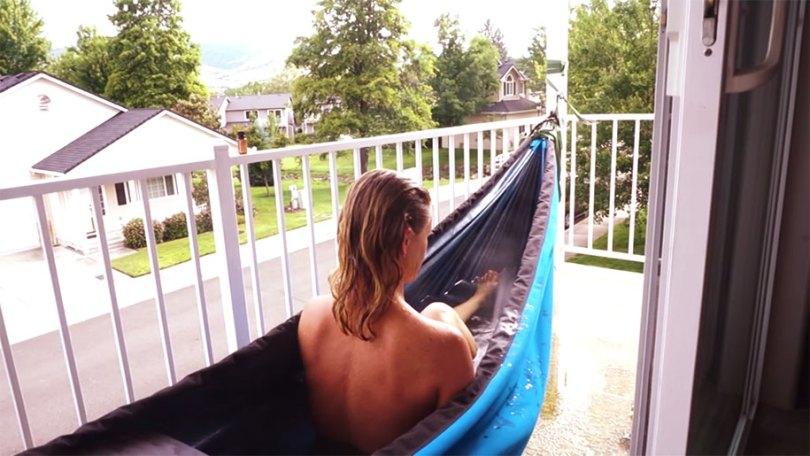 nature outdoor hot tub hydro hammock benjamin frederick 444 - Banheira estilo rede