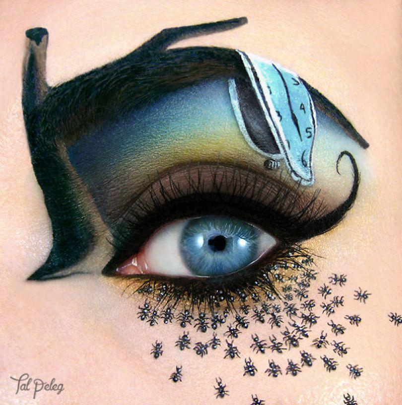 make up eyelid eye art drawings tal peleg israel 11 - Artista israelense desenha arte de maquiagem em suas próprias pálpebras