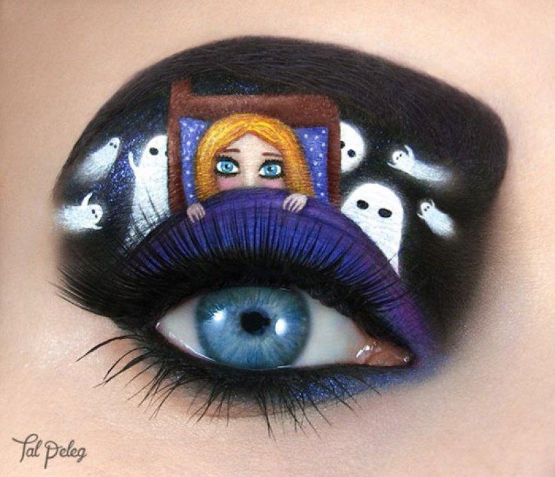 make up eyelid eye art drawings tal peleg israel 18 - Artista israelense desenha arte de maquiagem em suas próprias pálpebras