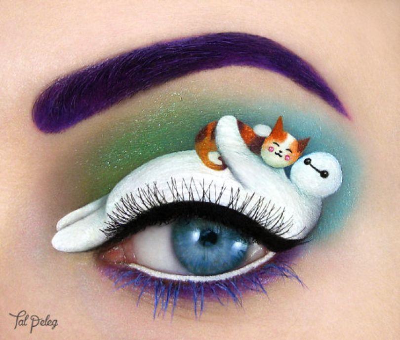 make up eyelid eye art drawings tal peleg israel 2 - Artista israelense desenha arte de maquiagem em suas próprias pálpebras