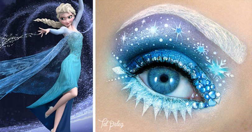 make up eyelid eye art drawings tal peleg israel 20 - Artista israelense desenha arte de maquiagem em suas próprias pálpebras