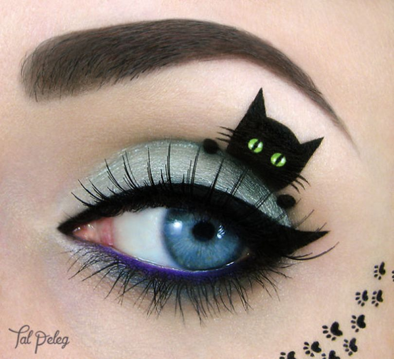 make up eyelid eye art drawings tal peleg israel 26 - Artista israelense desenha arte de maquiagem em suas próprias pálpebras