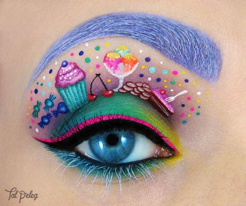 make up eyelid eye art drawings tal peleg israel 9 - Artista israelense desenha arte de maquiagem em suas próprias pálpebras