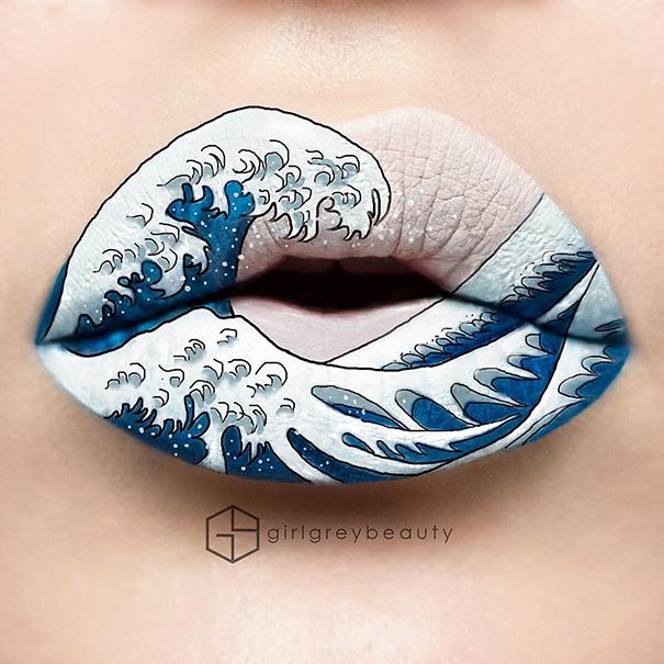 lips-drawings-makeup-art-andrea-reed-girl-grey-beauty-3
